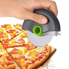 Stainless Steel Round Wheel Cutting Knife for Pizza with Lid Roulette Roller Dough Pizza Slicer Cutter Baking Accessories Tools