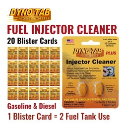 Dyno Tab Of the Fuel Injector Cleaner Petrol Gasoline & Diesel Fuel Economy Saver Carbon Cleaner (20 Blister Cards)