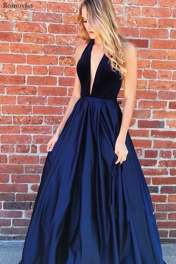 Sexy Deep V Neck Prom Dresses 2019 Backless Sweep Train Long Evening Party Dresses Formal Gowns Vestido De Fiesta Custom Cheap