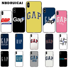 NBDRUICAI American Luxury Copy Brand gap High Quality Silicone Phone Case for iPhone 11pro XS MAX 8 7 6 6S Plus X5 5S SE XR case(China)