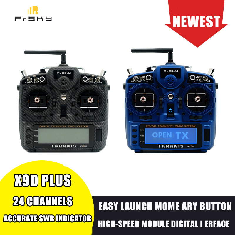 FrSky Taranis X9D Plus 2019 24CH ACCESS ACCST D16  Mode2 Transmitter M9 Hall Sensor Gimbal PARA Wireless Training