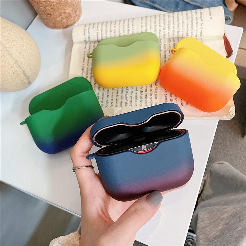 Funda protectora para auriculares SONY WF-1000XM3, funda protectora de Color degradado, accesorios de Auriculares inalámbricos con Bluetooth, caja de carga