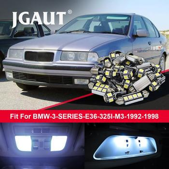 JGAUT 13pcs ERROR FREE White Car LED Canbus Bulbs Interior Package Kit For B MW 3 SERIES E36 325I M3 1992-1998 image