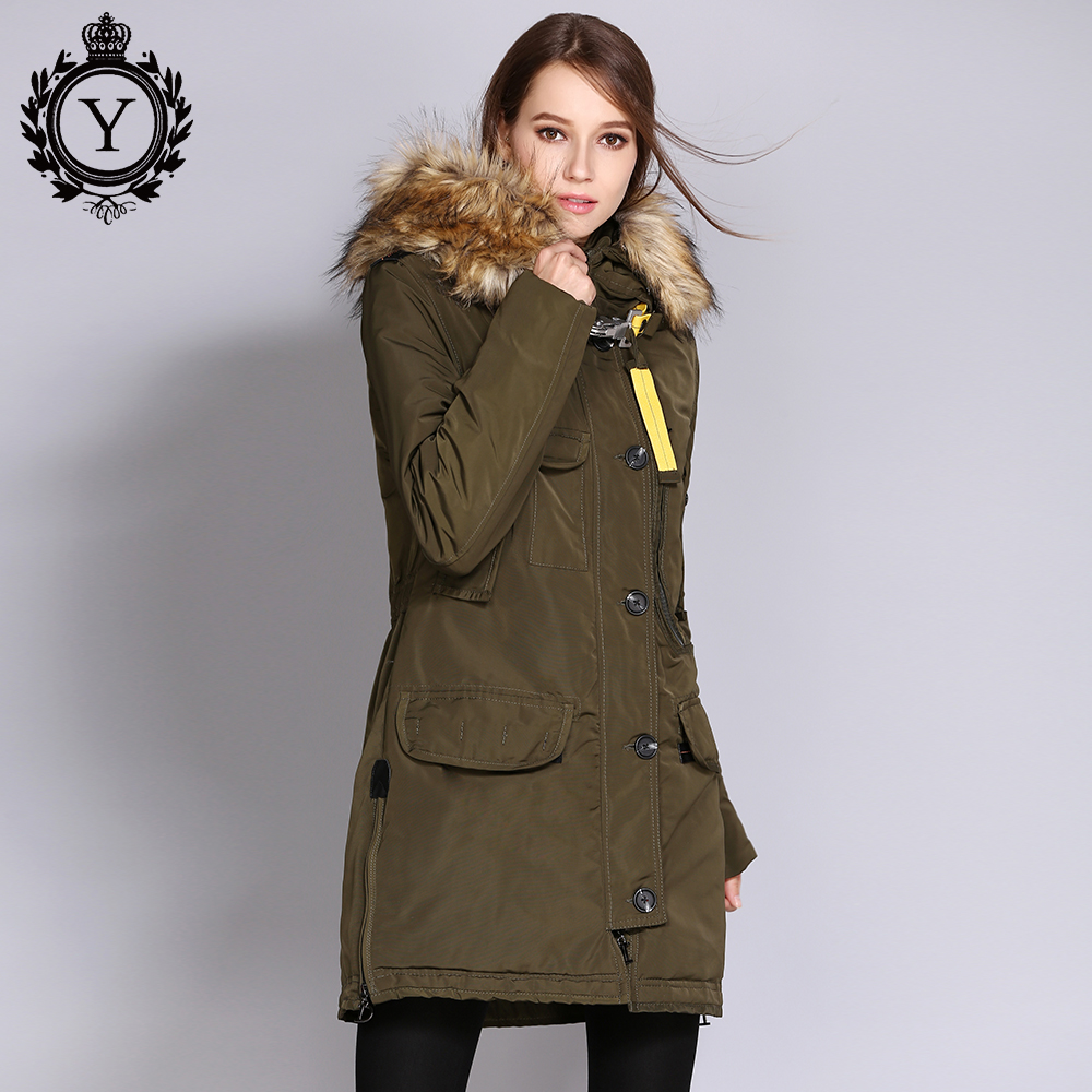 Parka Coats With Fur Hood For Women