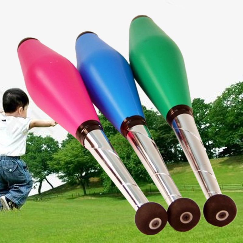 Juggling Pins Set Outdoor Children Juggling Training Stick Accessory Kid Playing Toy Family Performances Props
