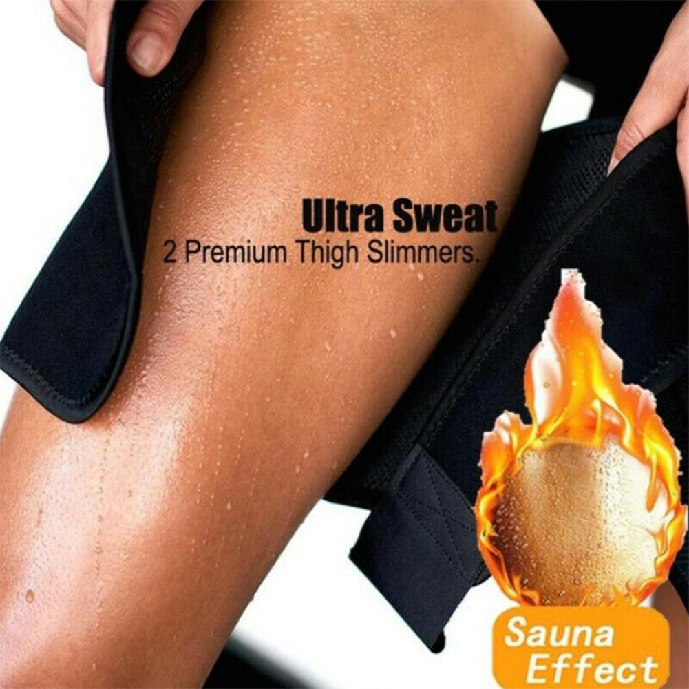 1 Pair Sweat Absorb Compress Belt Basketball Playing Sauna Sports Protective Leg Shaper Running Fitness Slimming Training