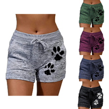 New ladies shorts, leisure sports style shorts, fitness sports loose shorts, yoga shorts, elastic waist shorts, beach shorts
