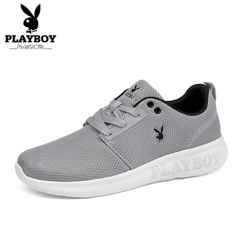 PLAYBOY New Running Shoes For Men Breathable Mesh Sports Sneaker Lightweight Lace-up Sneaker For Outdoor Walking Trekking Shoes