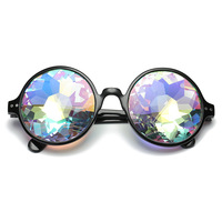 futuristic kaleidoscope glasses women men 2020 round party sunglasses festival funny oculos de sol feminino