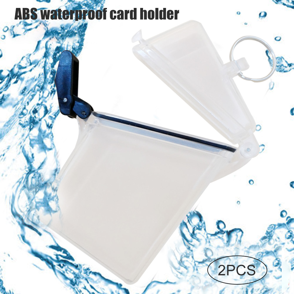 2 Pcs Waterproof Card Box Sport Case Cover Holder Lightweight Clear For Outdoor Money ENA88