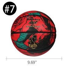 Уличный баскетбольный мяч для мужчин и женщин, из искусственной кожи, с красивым узором в виде розы, для занятий спортом, отдыха, официальный...