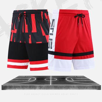 Męskie szorty do koszykówki oddychające pot sportowe szorty do biegania Outdoor Sports krótkie spodnie do ćwiczeń luźne 2020 gorąca sprzedaż szorty plażowe tanie i dobre opinie SHEDAO Szybkie suche Pasuje prawda na wymiar weź swój normalny rozmiar
