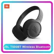 Jbl T500BT Draadloze Bluetooth Diepe Bas Sport Hoofdtelefoon Platte Opvouwbaar On Ear Headset Met Microfoon Fast Lading Siri