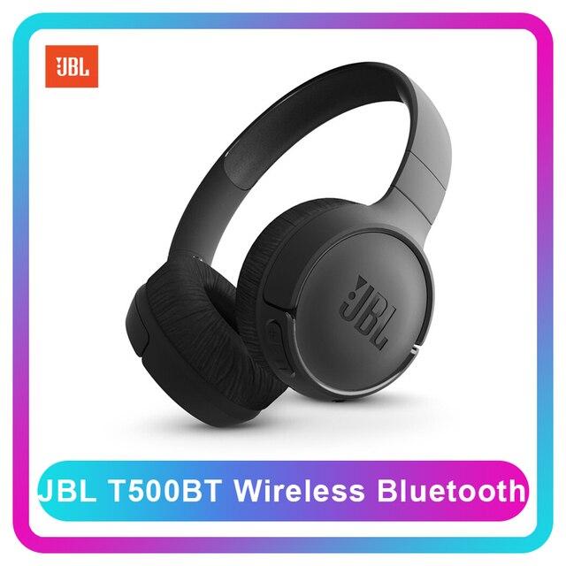 Loa JBL T500BT Bluetooth Không Dây Bass Sâu Tai Nghe Thể Thao Phẳng Có Thể Gấp Gọn Tai Nghe On Ear Có Mic Sạc Nhanh Siri