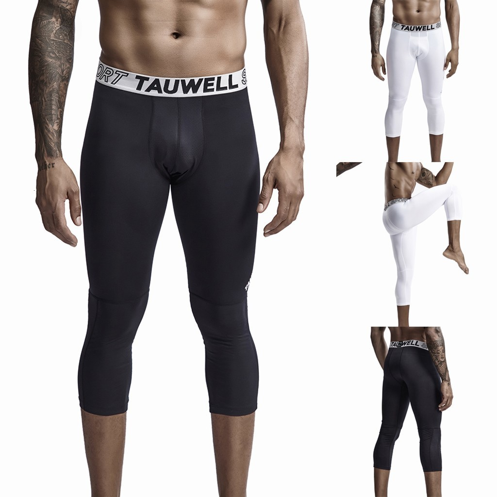 New Sweatpants Men's Streetwear Pants Fitness Men's New Style Fitness Exercise Quick-Drying Nine-Minute Pant Fashion Yoga Pant