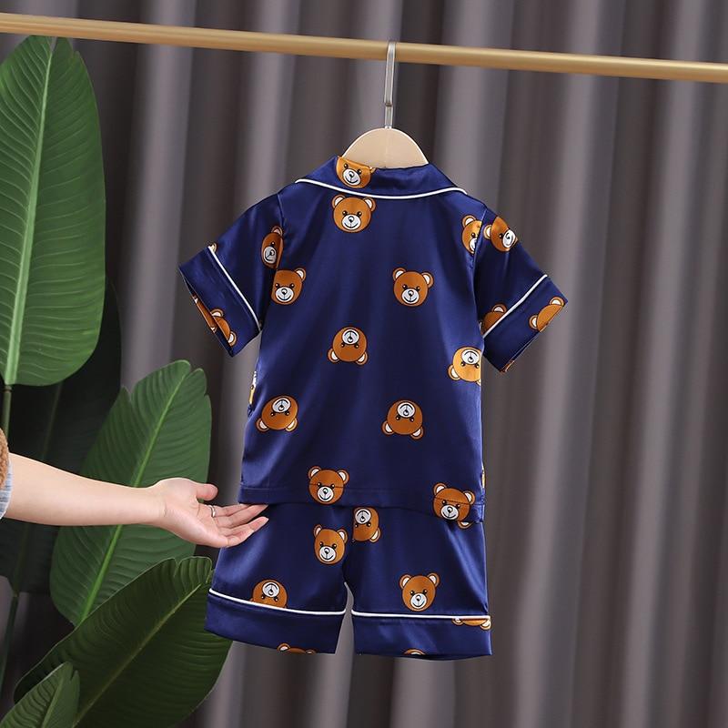 Kids Pajamas Set Toddler Sleepwear New Summer Pijamas For Boys Clothes Baby Girls pajamas Suit Boys Pyjamas Children Clothing 2