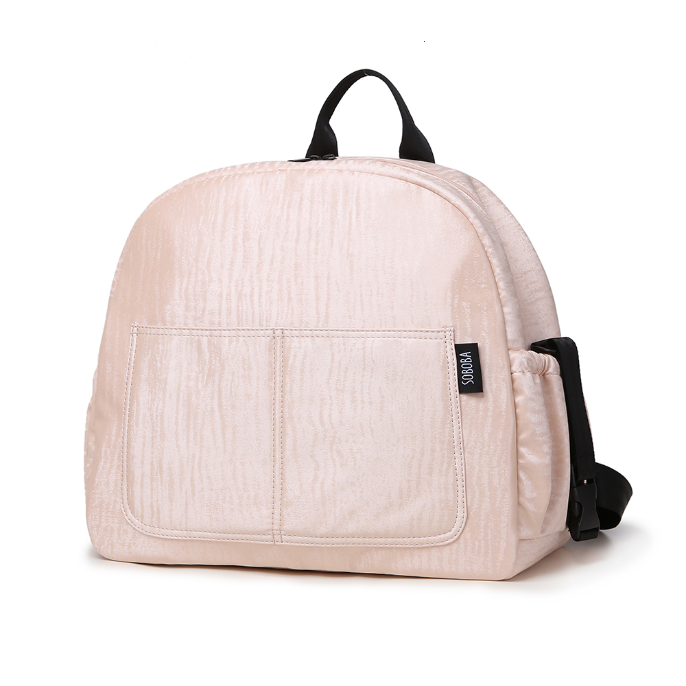 Soboba Multi-functional Diaper Backpack Set Pink Waterproof Large Capacity Maternity Nappy Changing Bag For Mother Diaper Bag