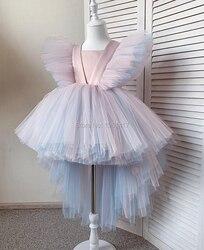Robe en Tulle pour petites filles | Motif floral, tenue de fête de noël, de demoiselle d'honneur, pour enfants de 1-6ans
