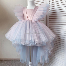 Toddler Baby Girl Tulle Flower Dress Party Gown Bridesmaid Kids Dress Christmas Party Dress Photography Props 1-6Y