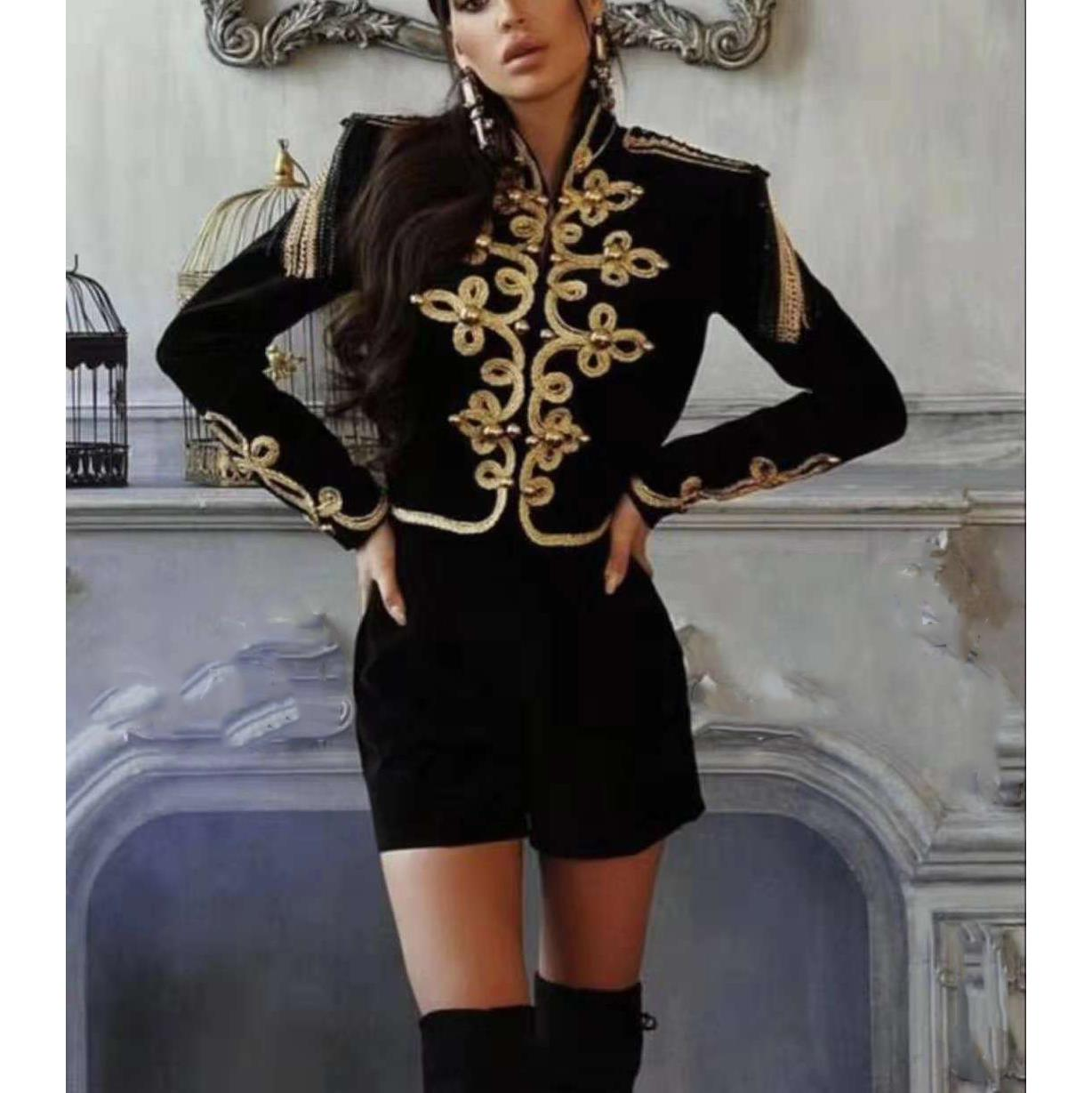 Chaqueta corta Retro mujer ropa Empire 2019 Otoño Invierno Lady Jacket Coat - 2