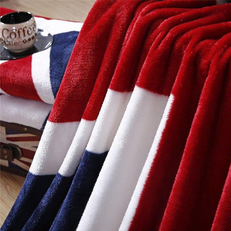 Image 2 - 2020 British Flag/American Flag Multifunction Blankets Soft Fleece Thin Plaid Print Air Sofa Throw Blanket Free Shippingsofa throw blanketthrow blanketblanket soft -