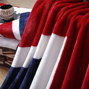 Image 2 - 2020 العلم البريطاني/العلم الأمريكي متعددة الوظائف البطانيات لينة الصوف رقيقة منقوشة طباعة أريكة هوائية رمي بطانية شحن مجاني