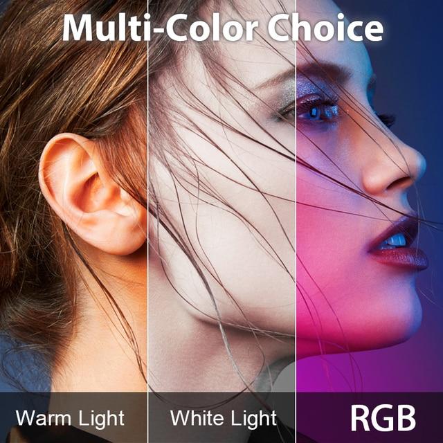 Ulanzi VL49 RGB Video Lights Mini LED Camera Light 2000mAh Rechargable LED Panel Lamp Photo Video Lighting  for Youtube Tik tok 4