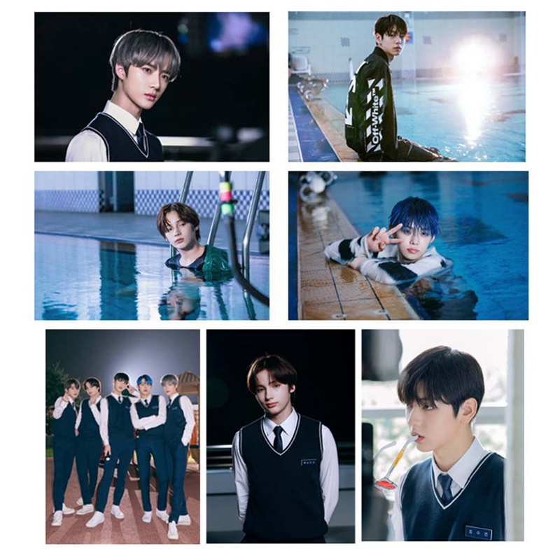 Kpop TXT Photo Sticky New Album The Dream Chapter: MAGIC Chapter Star Photocard Sticker DIY Crystal Card Sticker 21Pcs/Set