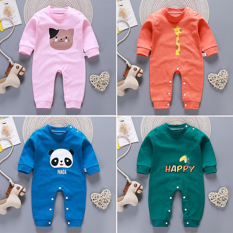 Newborn Baby Boys Girls Long Sleeve Climb Romper Today is My Leg Day Unisex Button Playsuit Outfit Clothes
