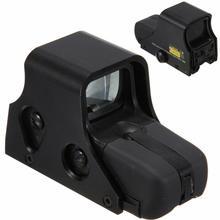 Mira holográfica de punto rojo/verde para caza al aire libre, mira réflex de colimador, apta para 1/3 Airsoft, 551 Uds.
