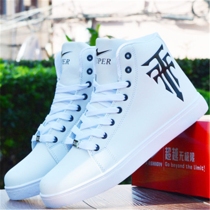 MVP BOY 39 44 Adults Casual Shoes Lace Up Canvas Men Flats Shoes 2017 Spring Summer Breathable Fashion Man Skate Shoes High Shoe in Men 39 s Casual Shoes from Shoes