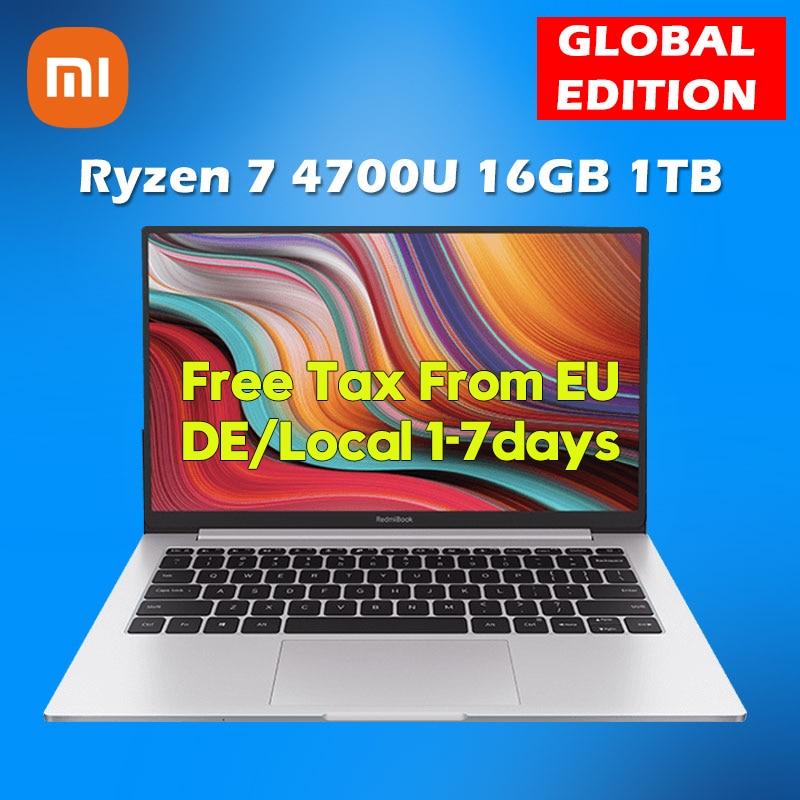 Xiaomi – pc portable RedmiBook 13, écran 13.3 pouces, 1080P, Windows 10, AMD Ryzen 4700U, 16 go de Ram, 1 to de SSD, PCle