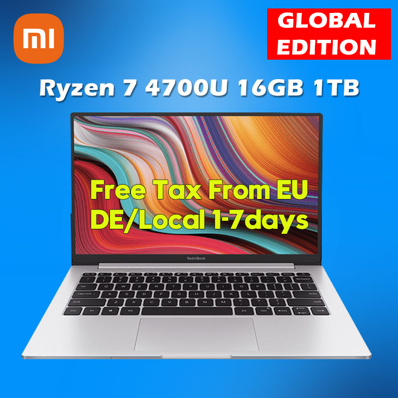 Ноутбук Xiaomi RedmiBook 13 блокнот для записей Ryzen Edition Ноутбук AMD Ryzen 4700U 16GB оперативной памятью 1 ТБ SSD PCIe 13,3