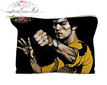 Bruce Lee cosmetic bag personalized small makeup bag funny makeup organizer toiletry bag zipper pouch(China)