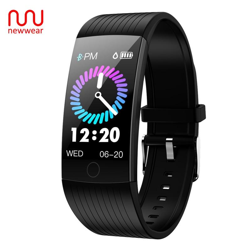 Newwear Q18 1.14 Inch Super Big Screen Smart Band IP68 Waterproof Wristband Men Women Bracelet Fitness Tracker For Android & IOS