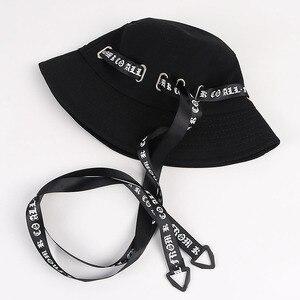 Mode Streetwear Hip Hop seau chapeau femmes hommes 2020 blanc noir bob chapeau femme panama pliable pêcheur chapeau de pêche