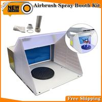 Portable hobby airbrush paint spray booth spray booth extractors extractor paint + filter for model airbrush set model