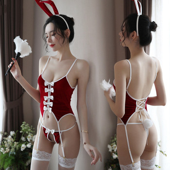 Woman sexy bunny girl uniform cosplay costume character JK suit erotic transparent costume costume couple flirting adult sex toy newest christmas costume santa claus costume suit adult couple performance costume set outfit