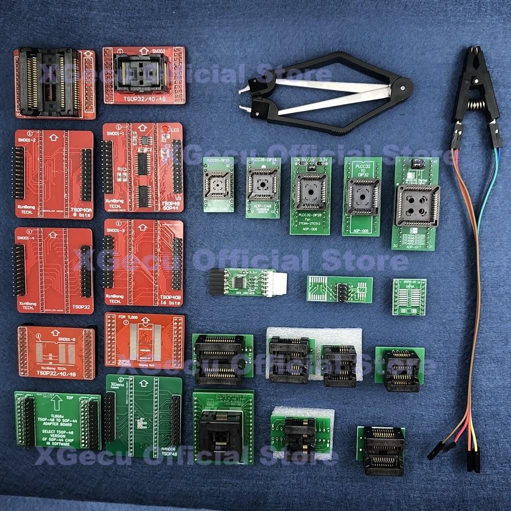 spi motorista qfp32 sop8 16 20 ssop8 plcc tsop nand kit adaptador para xgecu tl866ii plus