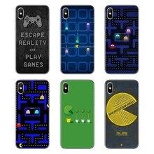 Para Samsung Galaxy A5 A6 A7 A8 A9 J4 J5 J7 J8 2017 Más de 2018, el primer juego de Arcade de Pac-man PACMAN arte transparente fundas de carcasa blanda