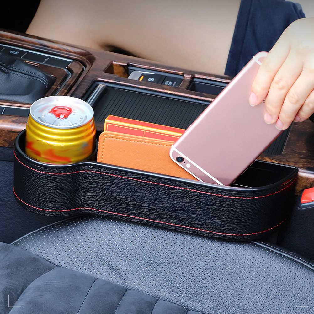 Araba koltuğu Gap yarık cep yakalayıcı organizatör PU deri saklama kutusu telefon şişe bardak tutucu oto araba aksesuarları iç