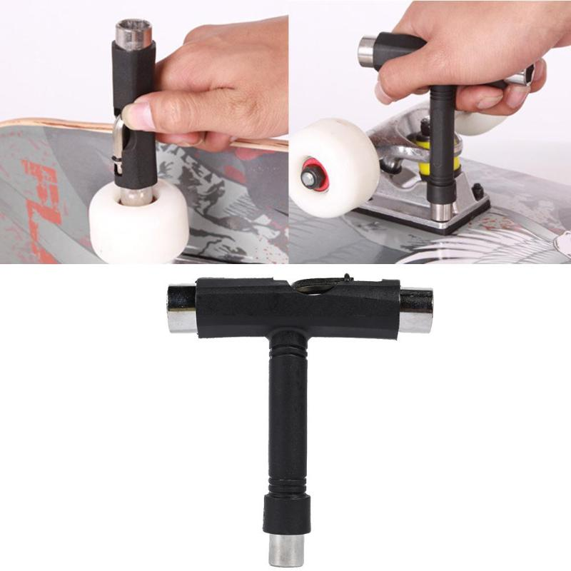 T-Type Skateboard Tool Ratchet Socket Wrench Kick Scooter Hand Tool All In One Screwdriver Multi-functional Skate T-Tool
