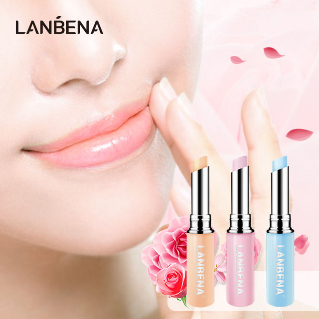 LANBENA Chameleon Lip Balm Rose Hyaluronic Acid Moisturizing Nourishing Lip Plumper Lip Lines Natural Extract Makeup Lipstick
