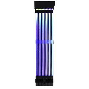 Image 1 - כוח RGB PSU קו 24Pin ניאון קו כוח RGB PSU קו מחשב לוח האם כוח הארכת מתאם כבל עבור E ATX/ATX/מיקרו ATX