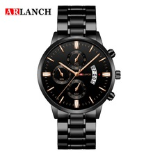 Arlanch Mens Watches New  Stainless Steel Waterproof Quartz Wristwatches Business Casual Calendar  Anniversary Gift for Husband good quality fasion mens ip gold plating quartz wristwatches stainless steel watches 3 colors available