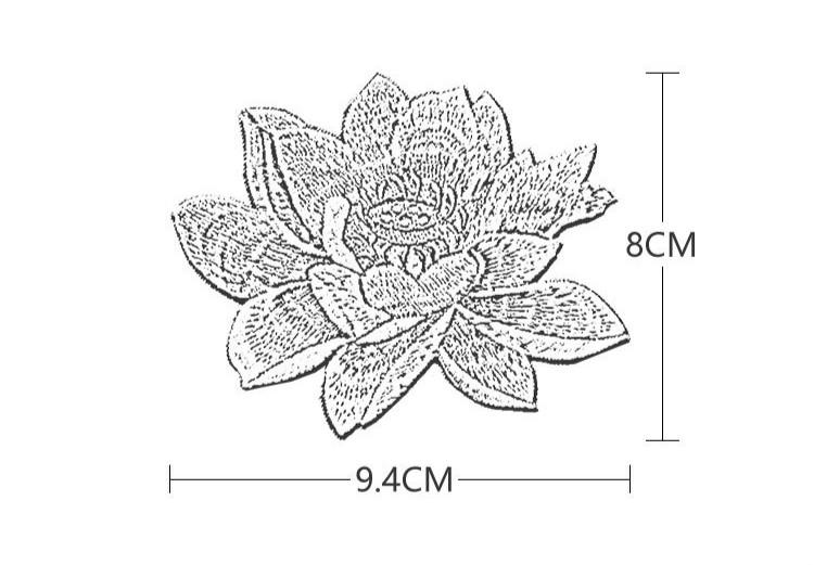 Аппликация для одежды lotus на заказ вышитая нашивка с цветами
