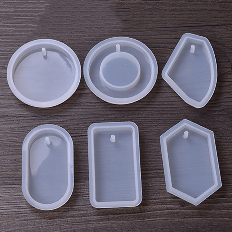 1PC Circular Craft DIY Transparent UV Resin epoxy Silicone Combination Molds For DIY Making Finding Accessories Jewelry