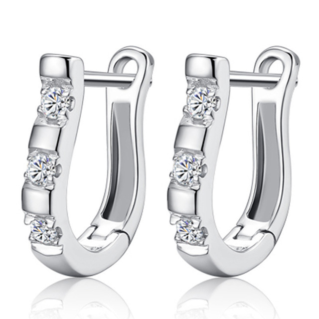 Zircon Studs HorseShoe Earrings  2