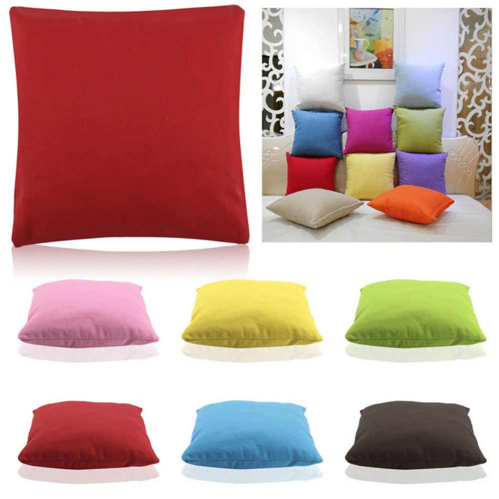 Fashion Two Sided Suede Pure Colorful Decorative Throw Pillows For Sofa Car Cushions Home Decor Wholesale