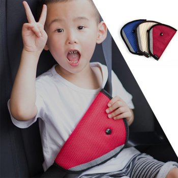 Children Car Seat Belt Holder Child Regulator Mesh Triangle Safety Restraint Belt Protector Shave Car Interiors Hot image
